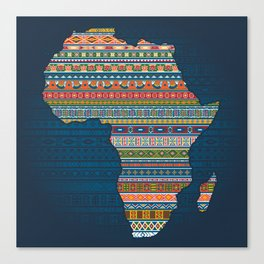 Africa map Canvas Print
