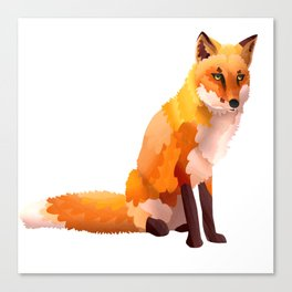 Paper Fox Canvas Print