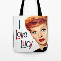 lucy Tote Bags featuring Lucy by SwanniePhotoArt