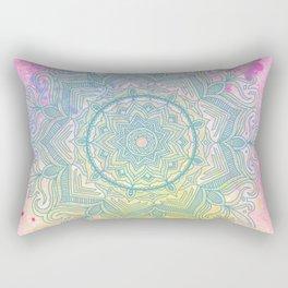 pink splash mandala Rectangular Pillow
