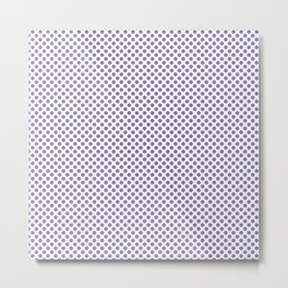 Paisley Purple Polka Dots Metal Print