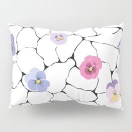 pansies on cracked ground Pillow Sham