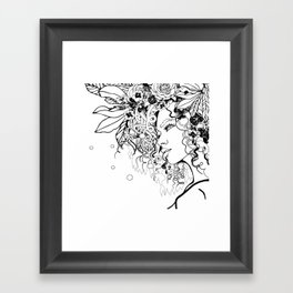 With Flowers in Her Hair No. 5 Framed Art Print