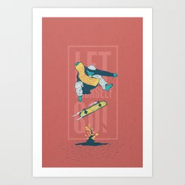 [LET YOURSELF GO!] The old master. Art Print
