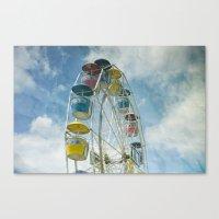 ferris wheel Canvas Prints featuring Ferris Wheel by Mary Kilbreath