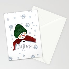 Let's build a snowman, let it snow Stationery Cards