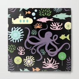 Octopus' Garden Metal Print