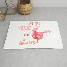 We are mad about chickens Rug