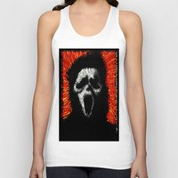 scream Tank Tops featuring Scream by brett66