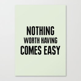 Nothing Canvas Print
