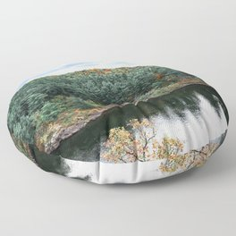 Fall Colors Minnesota and Wisconsin Floor Pillow