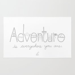 Adventure Is Everywhere You Are - B&W Rug
