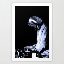 DJ Sloth Art Print