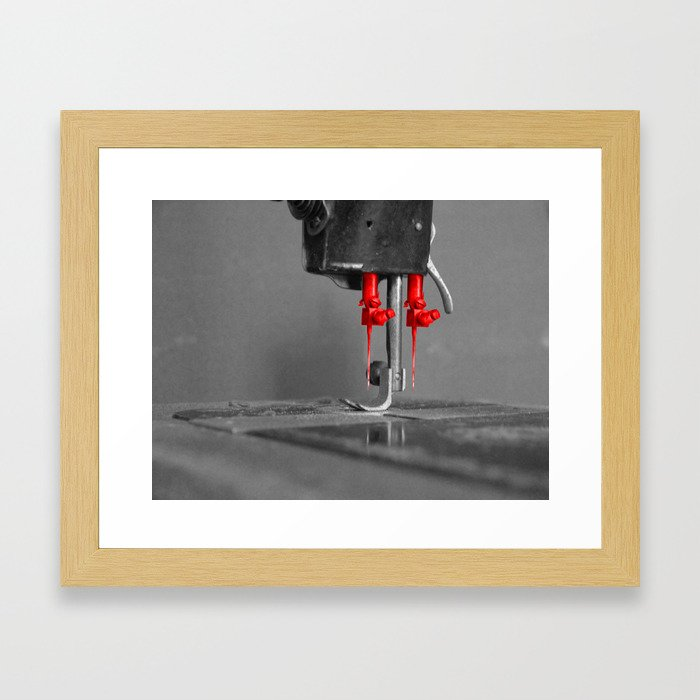 Needles in a double Framed Art Print