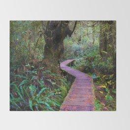 Rainforest Trail, Vancouver Island BC Throw Blanket
