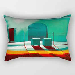 Residents of the yard Rectangular Pillow