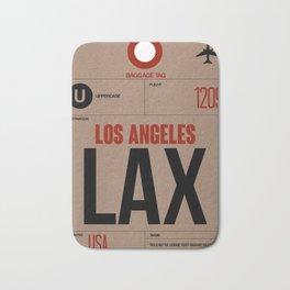 LAX Los Angeles Luggage Tag 1 Bath Mat