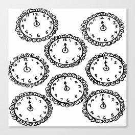 Tick Tock Clocks Canvas Print