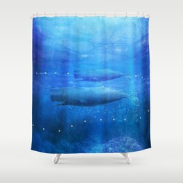 Save The Whales by Viviana Gonzalez Shower Curtain