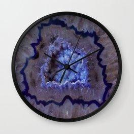 Quartz Inside Geode rustic decor Wall Clock