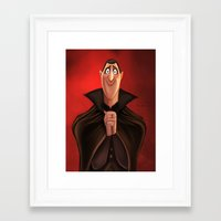 dracula Framed Art Prints featuring Dracula by This Is Niniel Illustrator