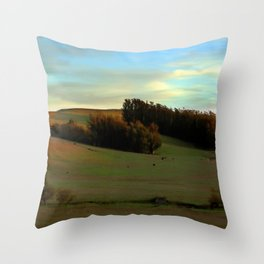 Last Moments of Sunset Glow, Sonoma County Hills Throw Pillow