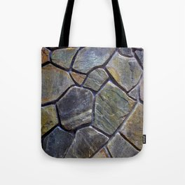Stone Mosaic Wall Tote Bag
