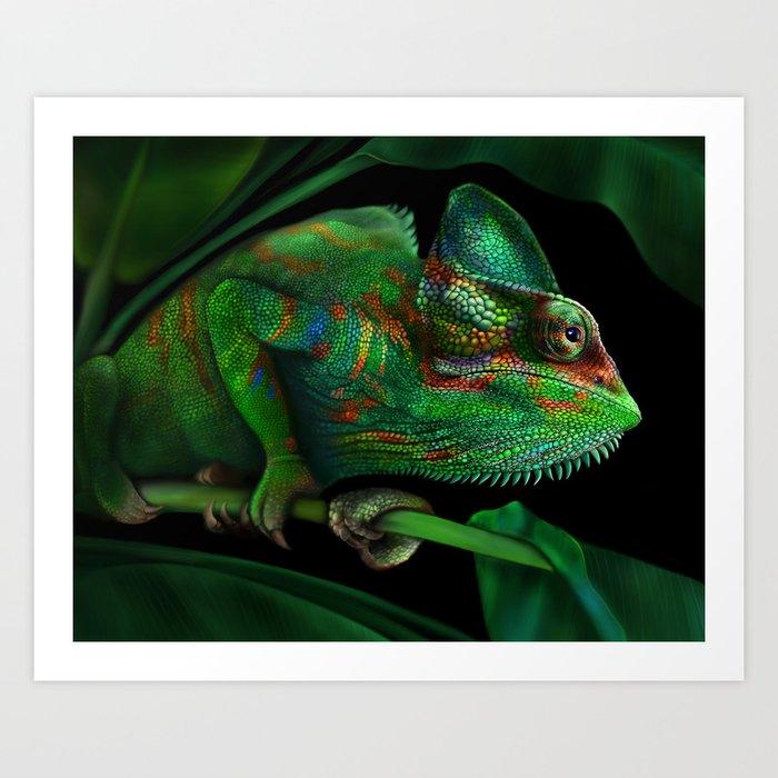 Chameleon Kunstdrucke