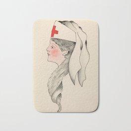 Vintage Tattoo Army Nurse Design Bath Mat
