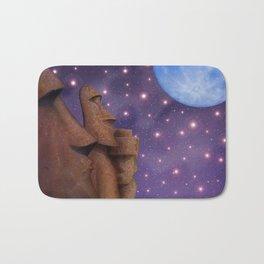 Moai & Moon in Universe Bath Mat