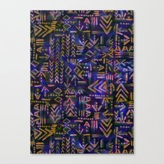Tapa Tribal Aura Canvas Print