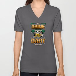 Dart beer arrow dartboard triple target sport Unisex V-Neck