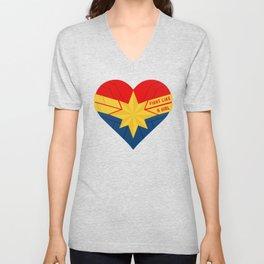 Superhero Heart Captain Unisex V-Neck