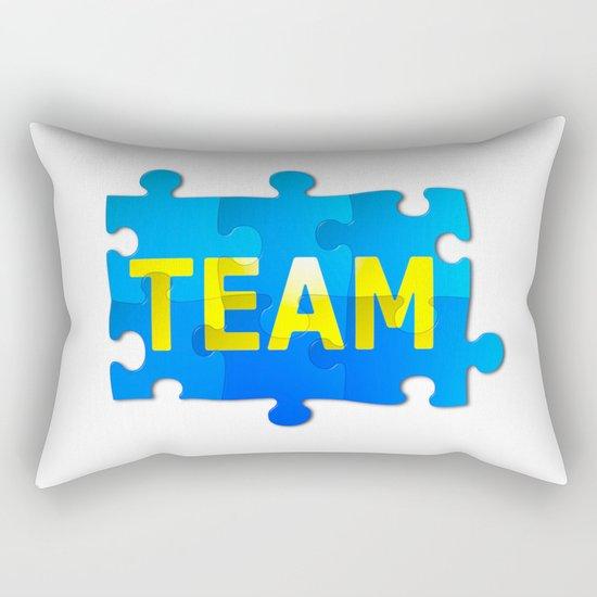 Team Jigsaw Puzzle Rectangular Pillow