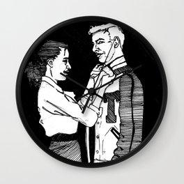 You & Me V Wall Clock