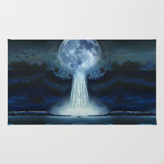 waterfall moon Rug