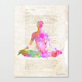 Yoga book Canvas Print