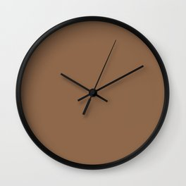 Dunn & Edwards 2019 Curated Colors Cedar Chest (Rich Warm Brown) DE6112 Solid Color Wall Clock