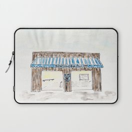 Britt's Donut Shop, Carolina Beach, NC, watercolor Laptop Sleeve