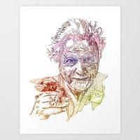 David Attenborough Art Print
