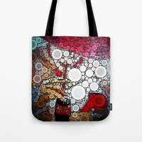 coke Tote Bags featuring Drink Coke by Jason Perkins Designs