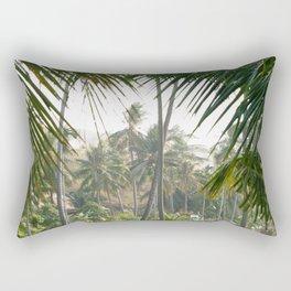 Exotic Palm Trees Rectangular Pillow