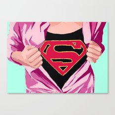 Girl, you're super Canvas Print