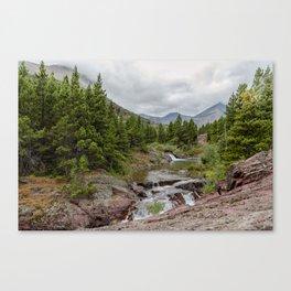 Upper Redrock Falls - Glacier NP Canvas Print