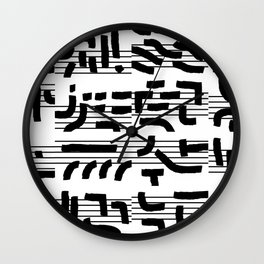 Fragments of Rhizome Paths no. 4 Wall Clock