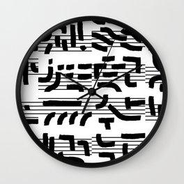 Fragments of Rhizome Paths no. 4 Wall Clock