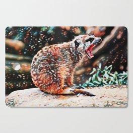 Meerkat Rage | Painting Cutting Board