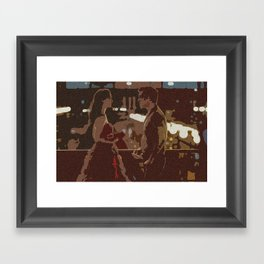 Three Words, Eight Letters Framed Art Print