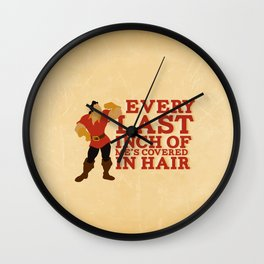 gaston.. beauty and the beast funny hair quote Wall Clock