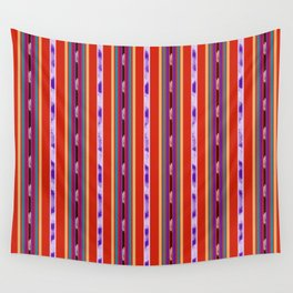 Red and Purple huipil Wall Tapestry